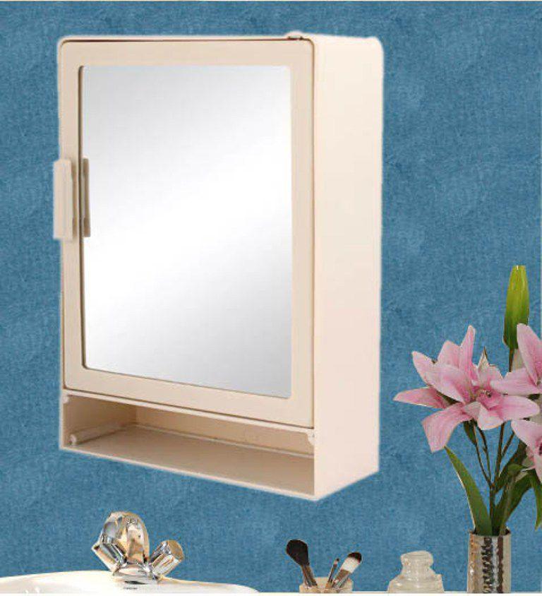 Zahab Style Shelve Single Door Plastic Bathroom Cabinet