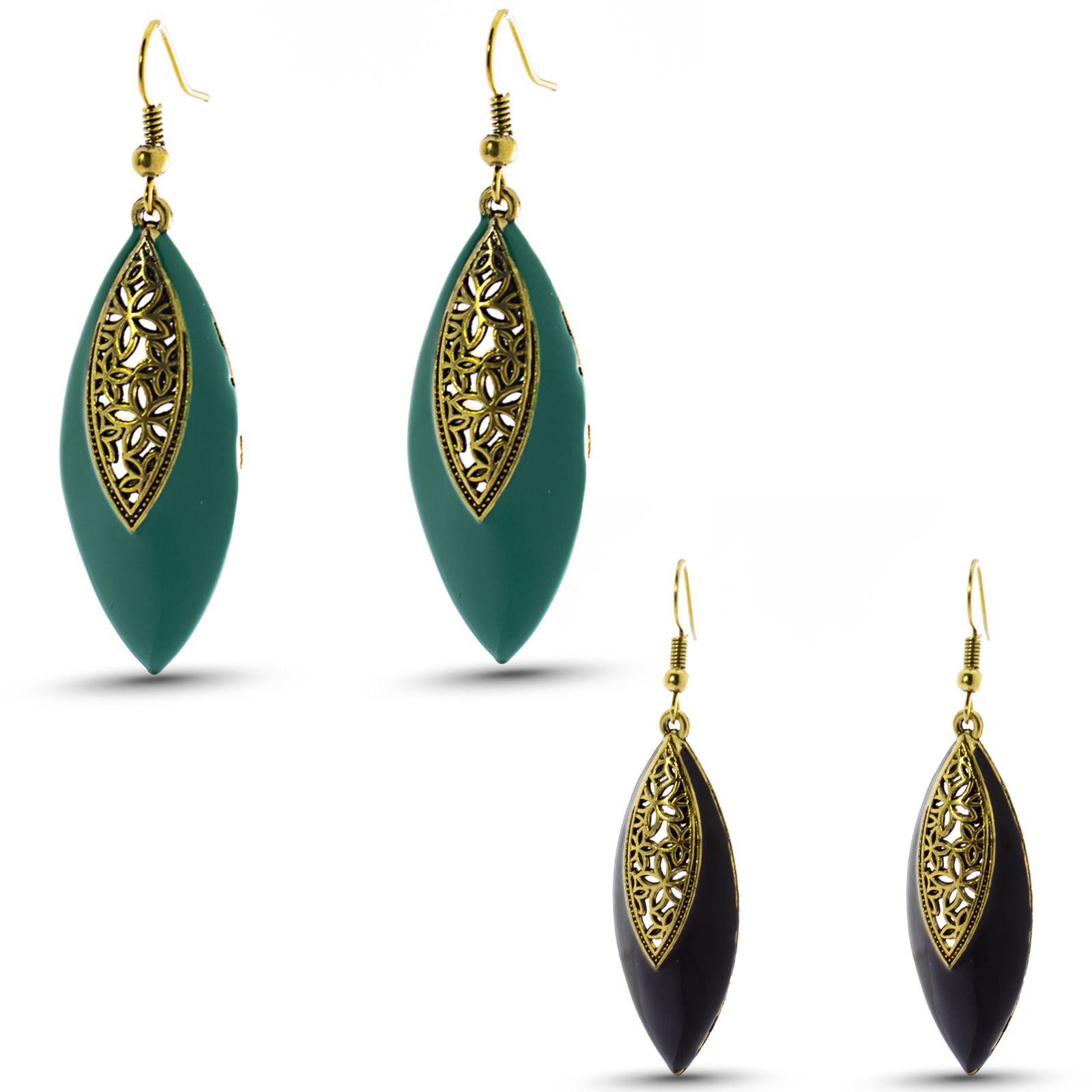 Three Shades Earrings Combo Set of 2 Designer Earrings for Girls & Women Party Wear, Daily Wear, Office Wear Designer Earrings 106
