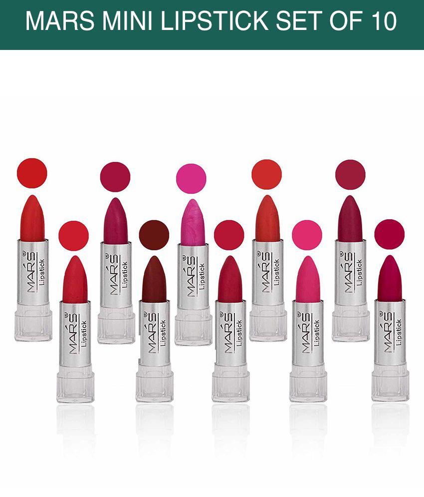 Mars Mini Lipstick (Pack of 10) - B Multi Color