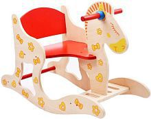 Wooden Baby Rocking Horse Animal Chair Ride For Kids (Multicolor)