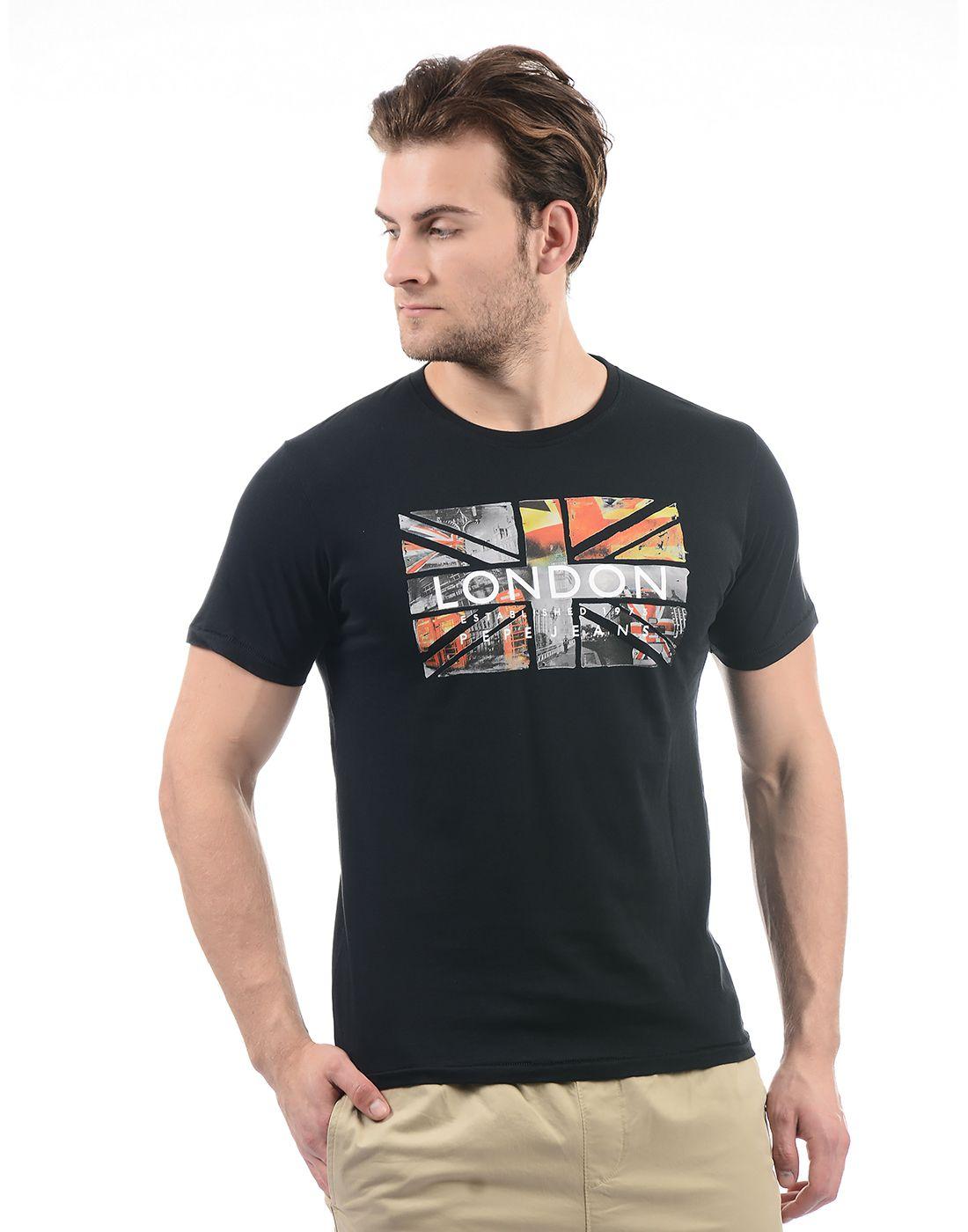 Pepe Jeans Black Round T-Shirt