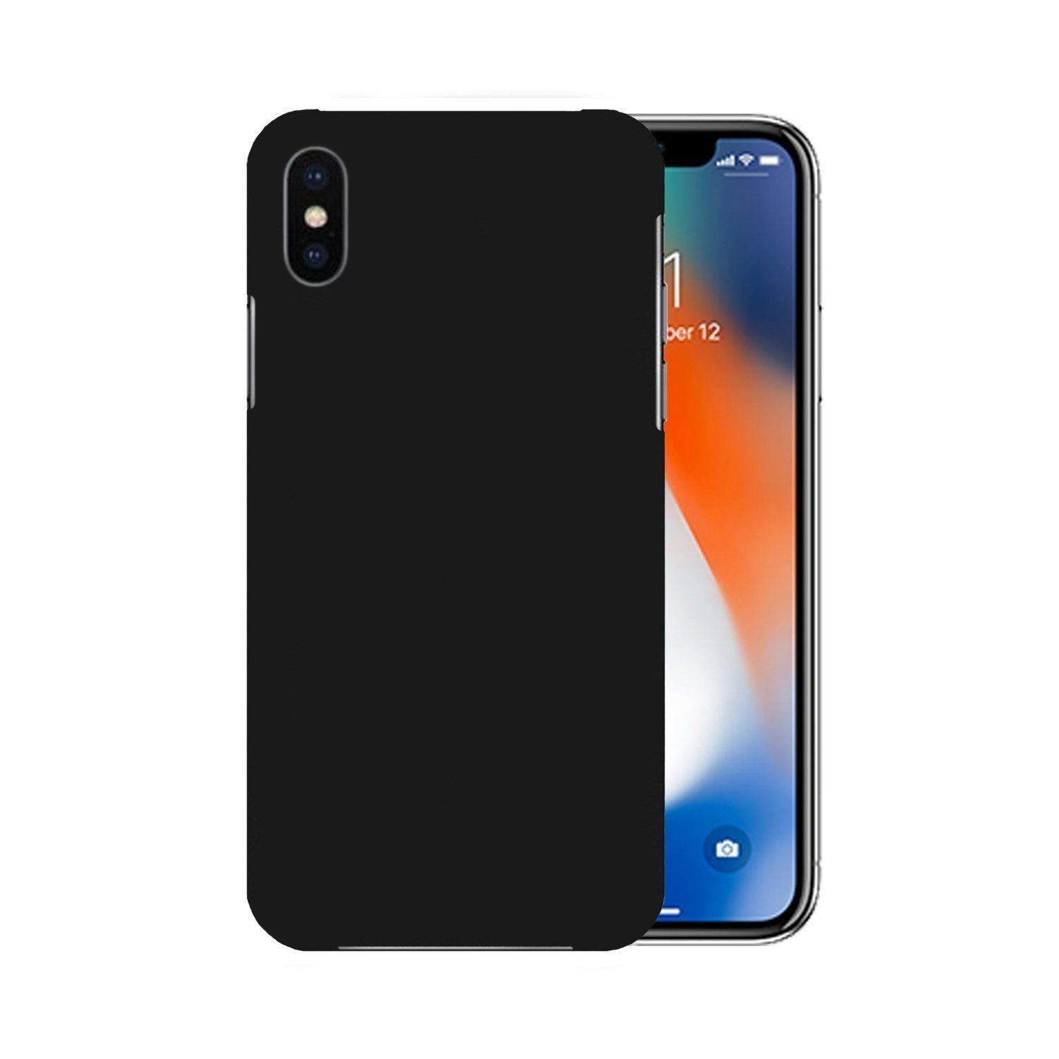 b0bbbf387aa Xiaomi Redmi Note 5 Pro Plain Cases Colorcase - Black - Plain Back Covers  Online at Low Prices