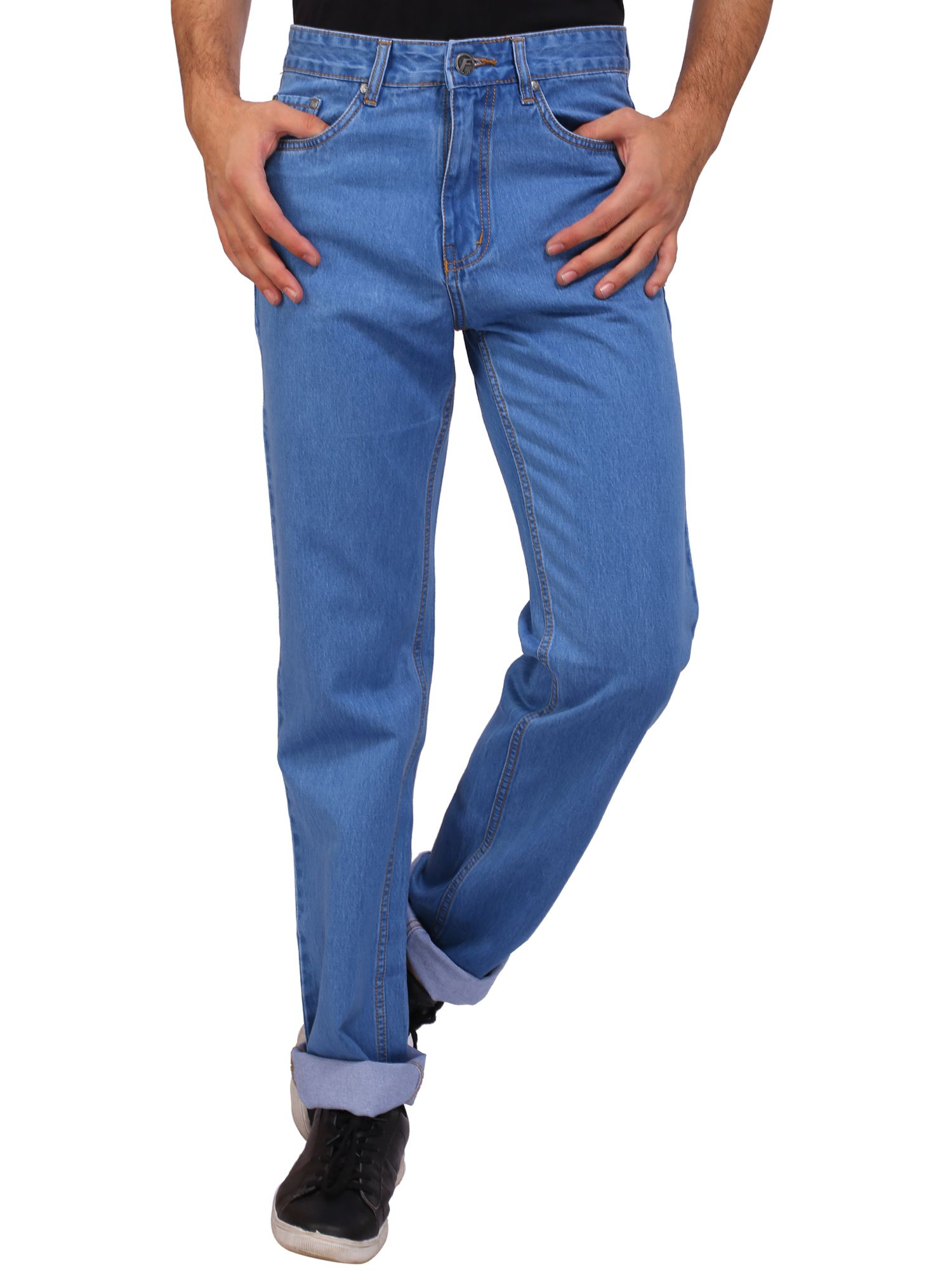 Flags Blue Relaxed Jeans