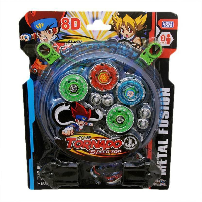 4 Beyblade Set With Ripchord Launcher And Assemble Tool 4d Tornado