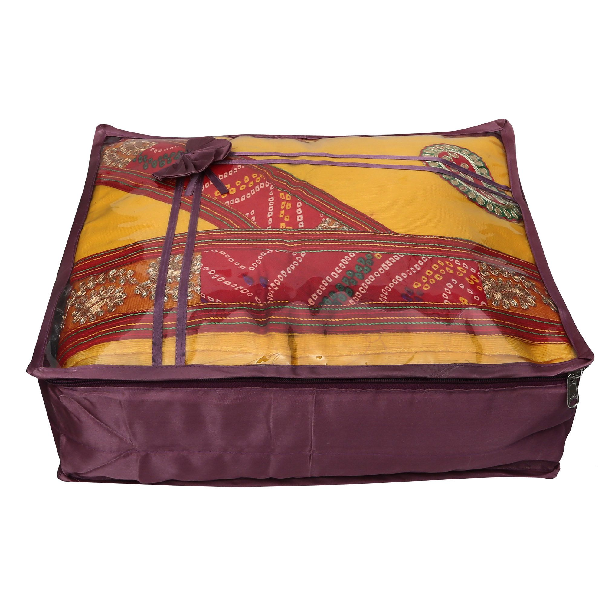 Zadmus Purple Saree Covers - 1 Pc