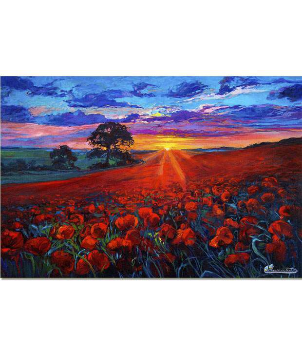 Anwesha's Gallery Wrapped Digitally Printed 30x20 Inch - 129 Canvas Painting With Frame