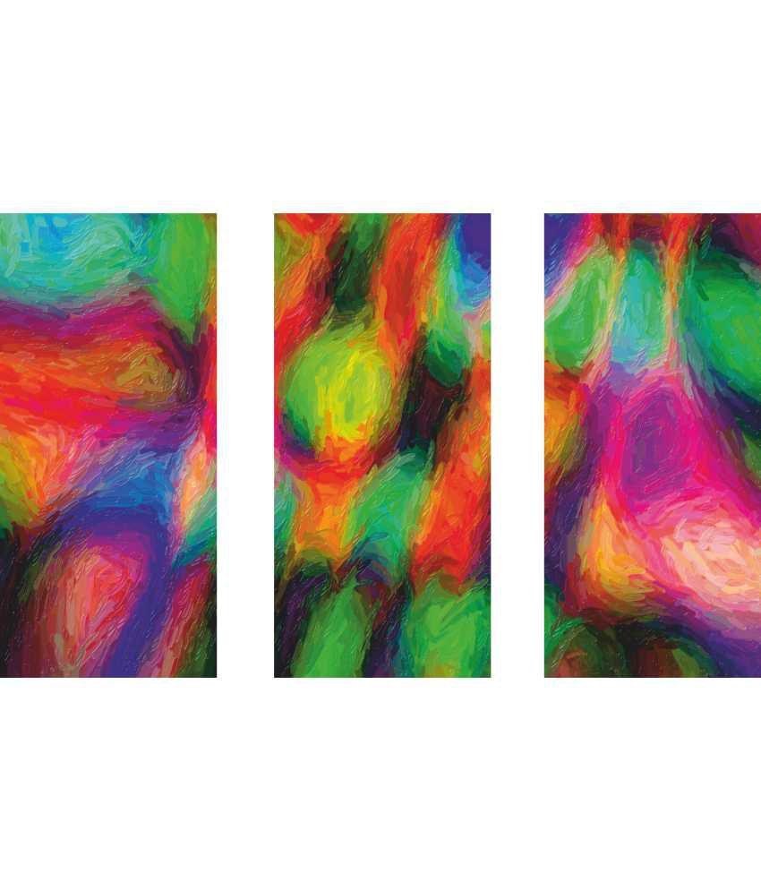 Anwesha's Plastic Modern Art 3 Frame Split Effect Digitally Printed Canvas Painting With Frame