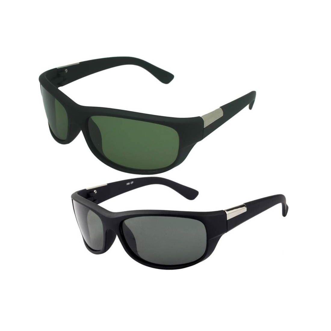 Joe Louis Green Wrap Around Sunglasses ( PPS21 )