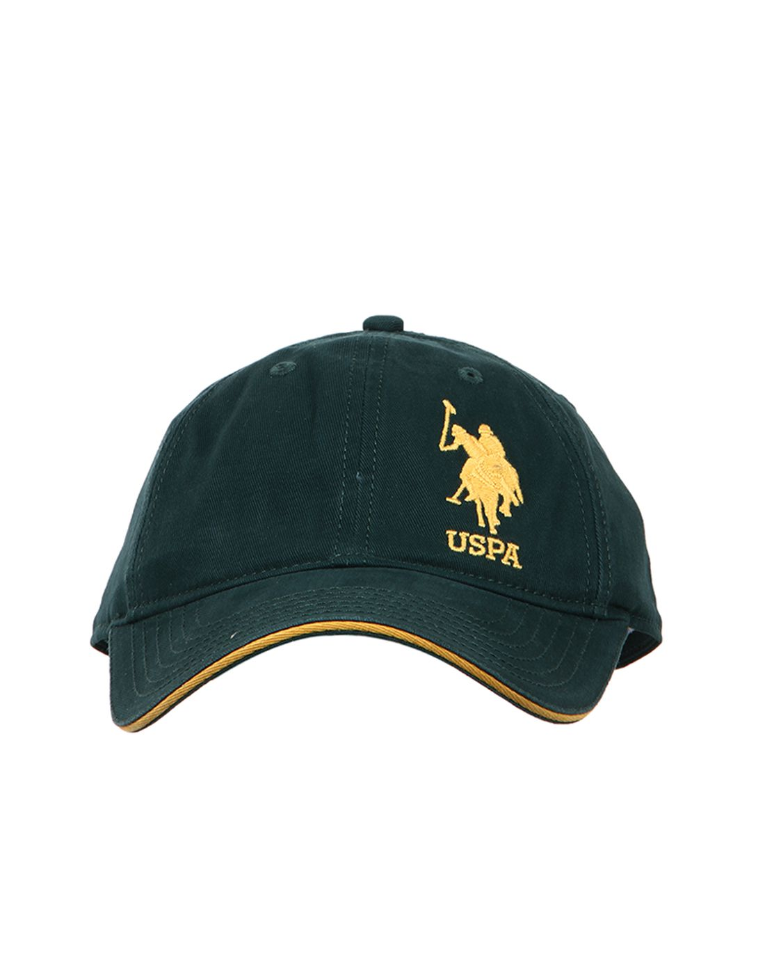 U.S. Polo Assn. Green Plain Cotton Caps