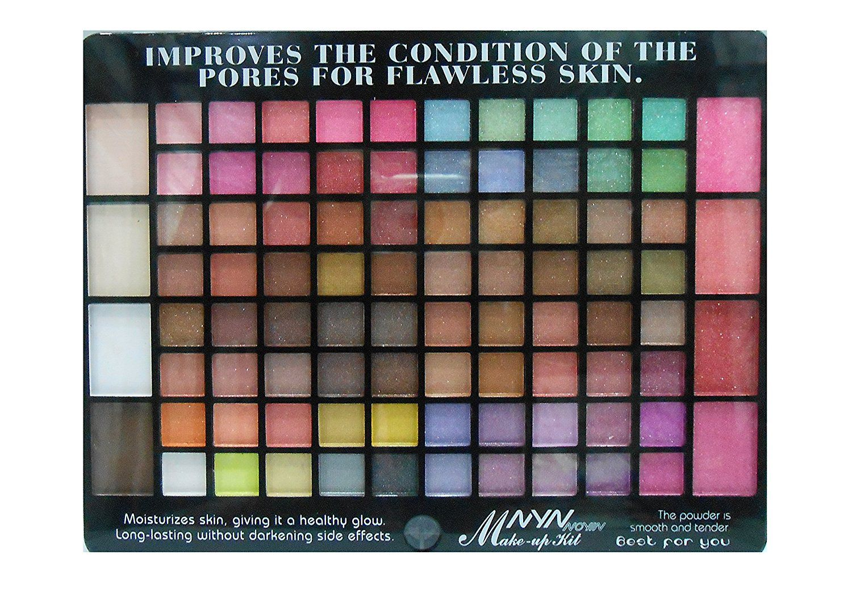 Nyn noyin waterproof makeup kit 80 eyeshadow 4 blusher 4 compact