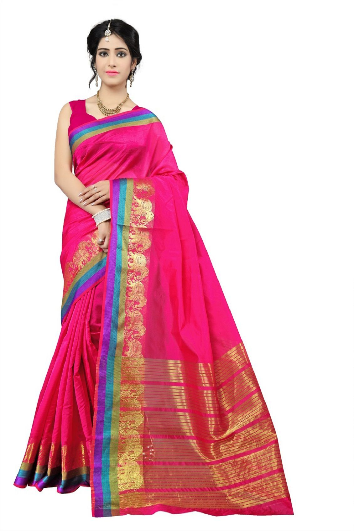 f2d7e5ff1b52b7 Mahadev Enterprises Red and Pink Banarasi Silk Saree - Buy Mahadev  Enterprises Red and Pink Banarasi Silk Saree Online at Low Price -  Snapdeal.com