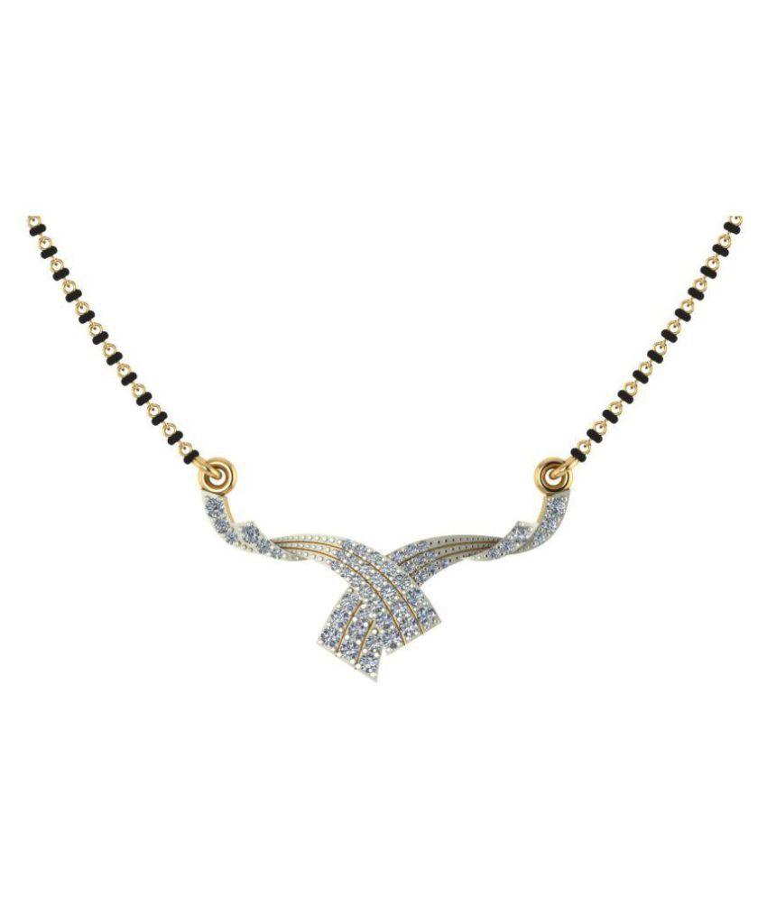 Dishis Designer Jewellery 18k Yellow Gold Diamond Mangalsutra