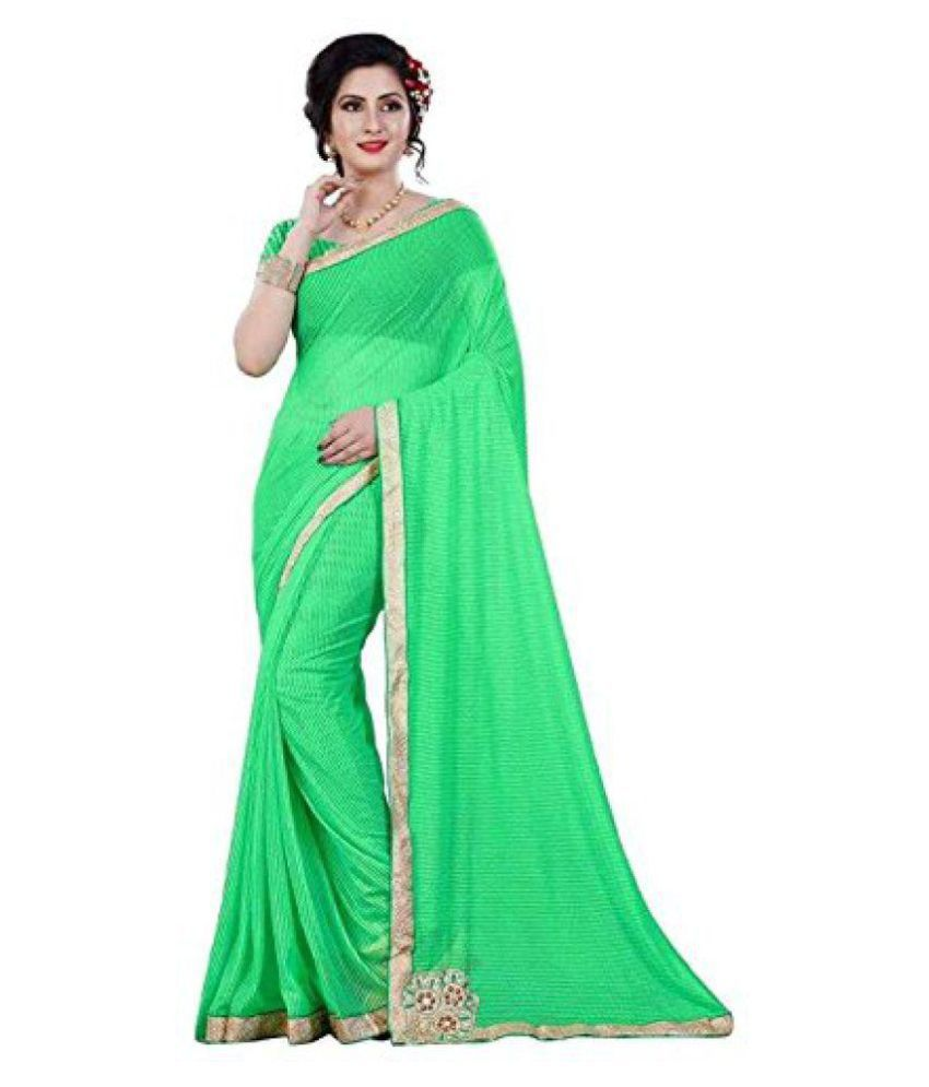 Kashmeera Fashion Green Lycra Saree