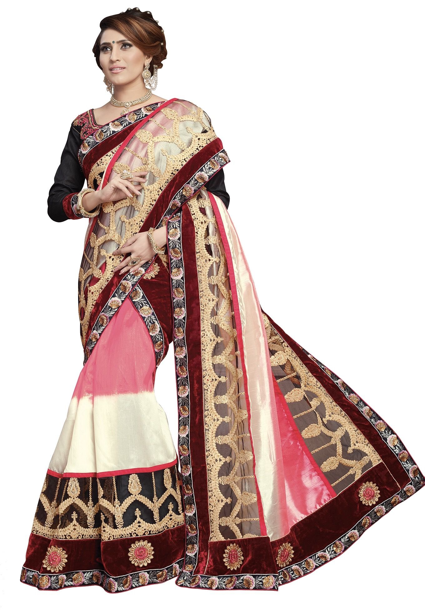 S. Kiran's Multicoloured Art Silk Mekhela Chador Saree