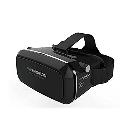 71974792c9b1 Buy DEFLOC Black Virtual Reality 3D Glasses 2nd Generation UpTo 15.5 cm (6)  Adjustable pupil distance and sight distance 360 viewing and gaming.
