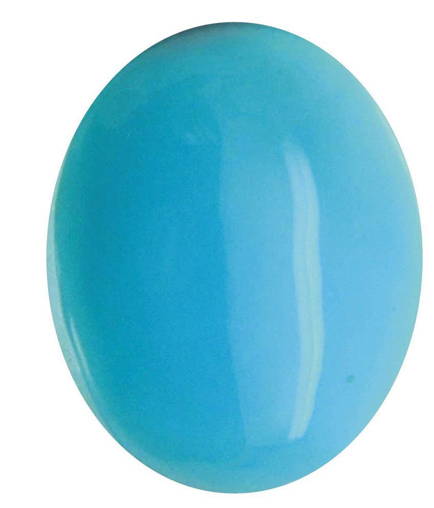 Tejvij And Sons 5.25 -Ratti Self certified Turquoise Turquoise Semi-precious Gemstone