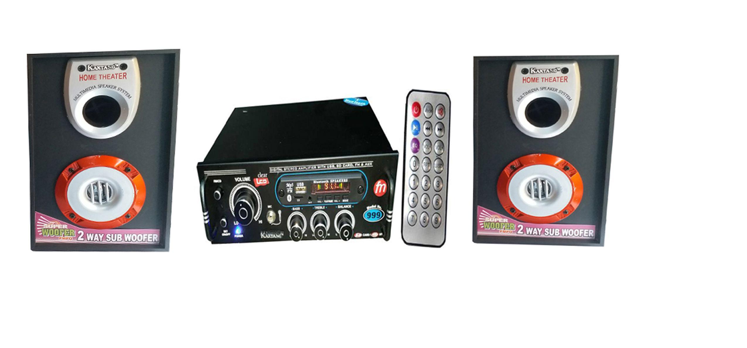 KAXTANG BLUETOOTH AMPLIFIER FM/USB/ 2 SPEAKER Amplifier