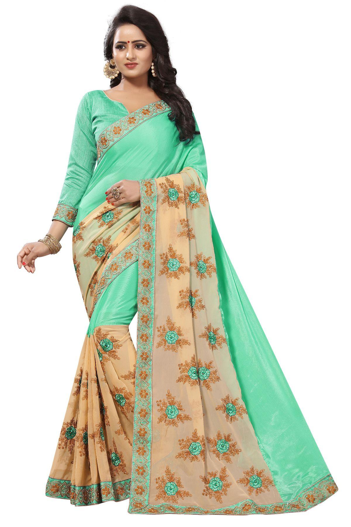 Mastani Orange Silk Saree