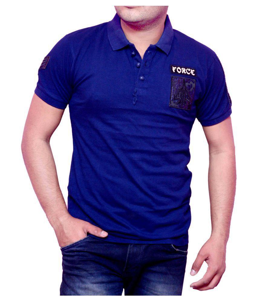 Vsquared Blue Hooded T-Shirt