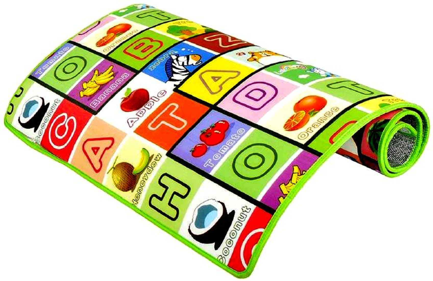 BcH Microfiber Play Mat 100% Waterproof, Anti Skid ,Double Sided Baby Play & Crawl Mat (6'X4' Feet)  (Multicolor, Large)