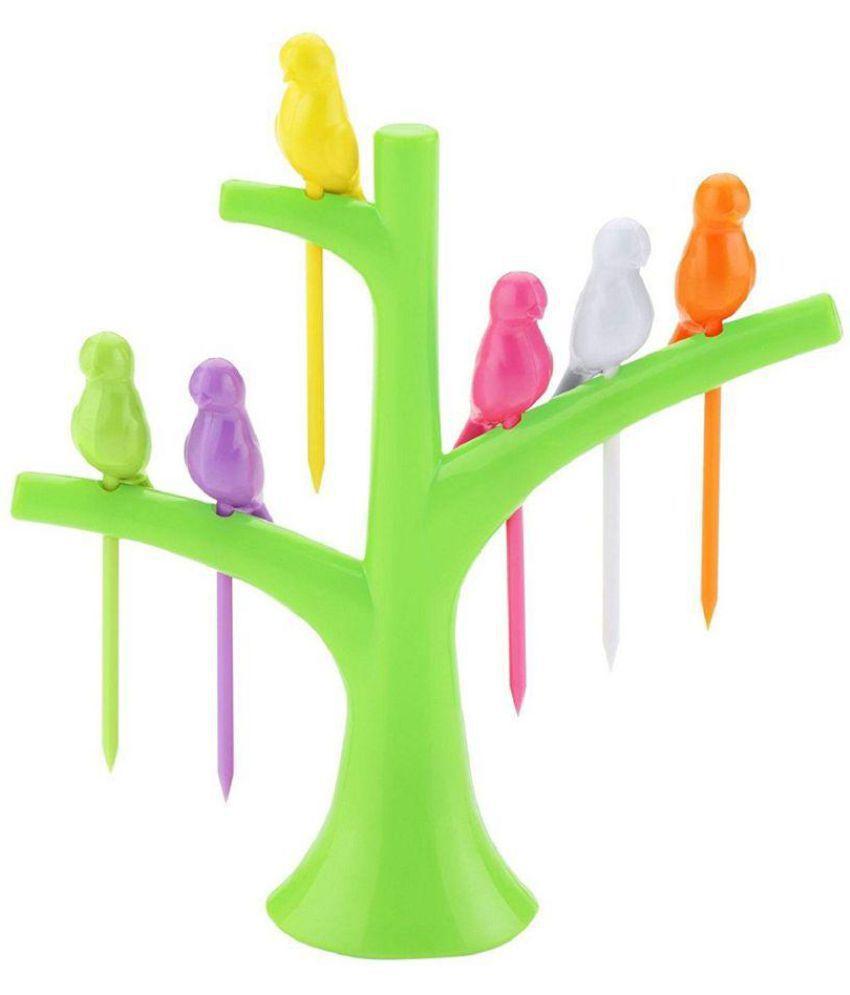 MALIK DIGITAL 6 Pcs Plastic Fruit Fork: Buy Online at Best ...