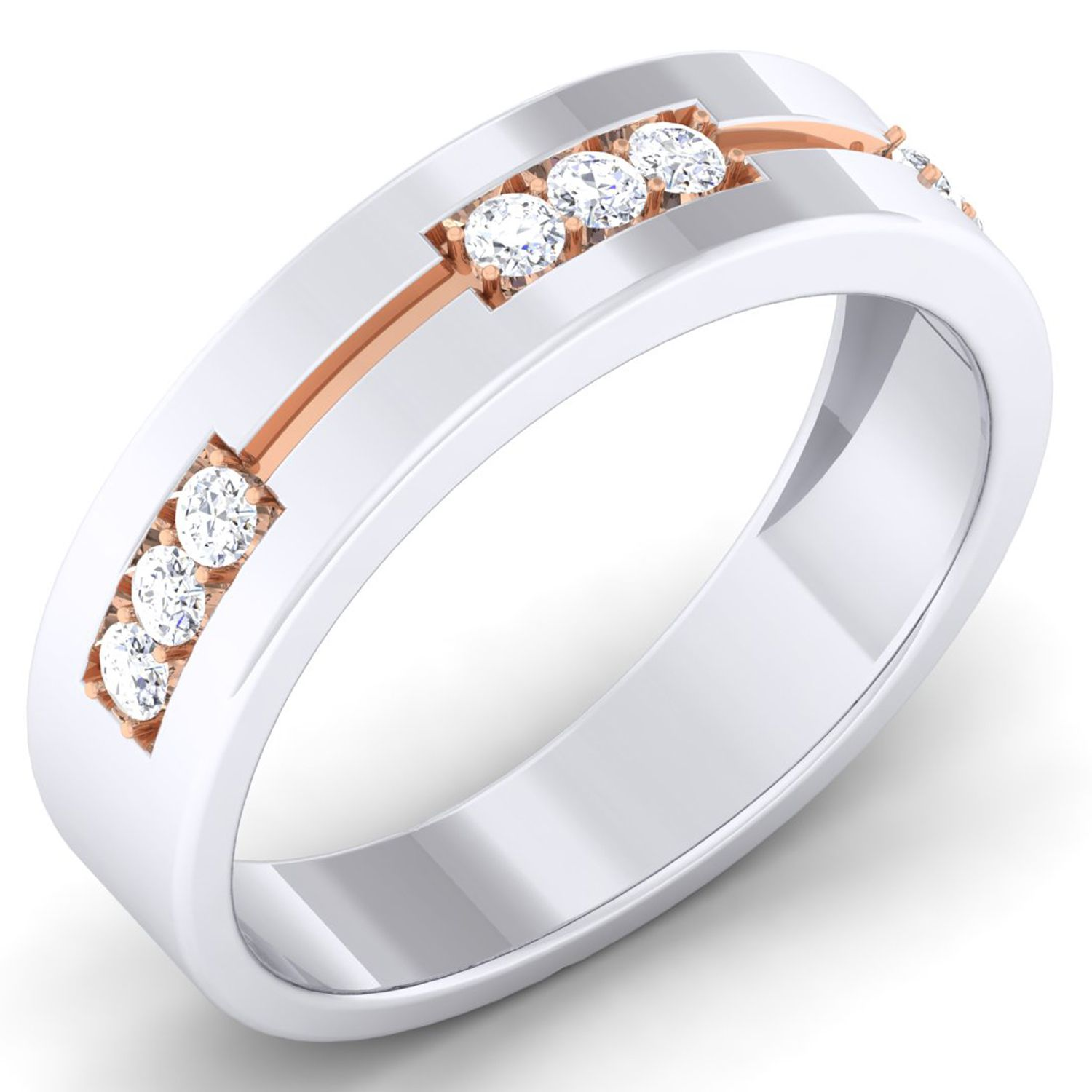 Myzevar 92.5 Silver Band Ring