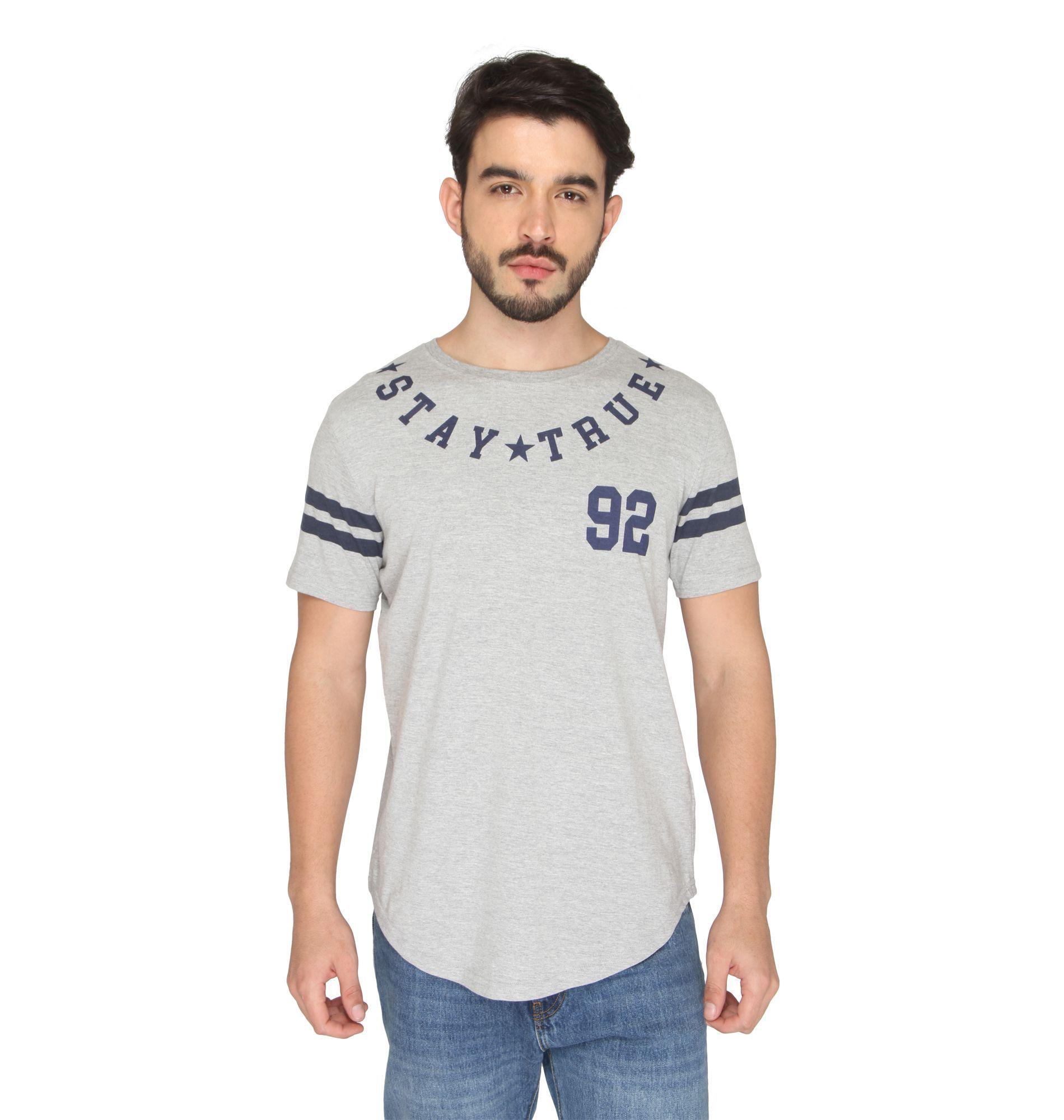 Drastic Grey Round T-Shirt