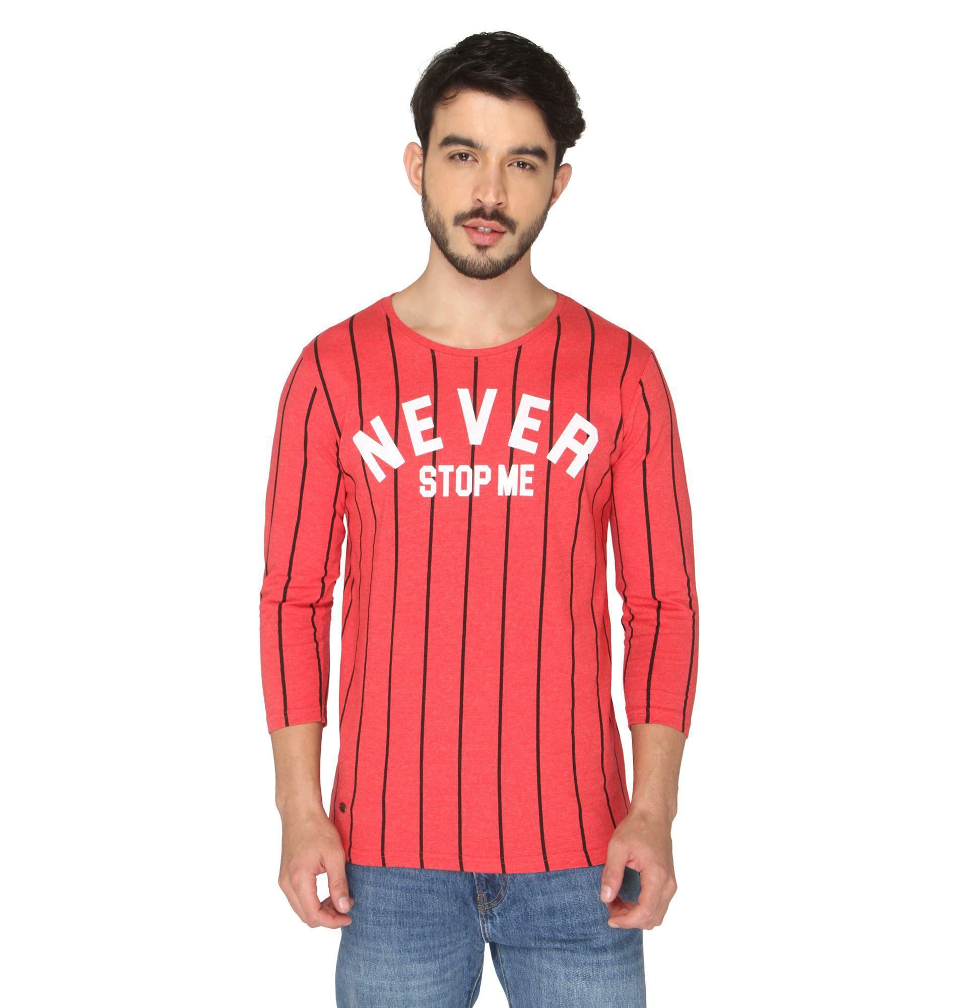 Drastic Red Round T-Shirt