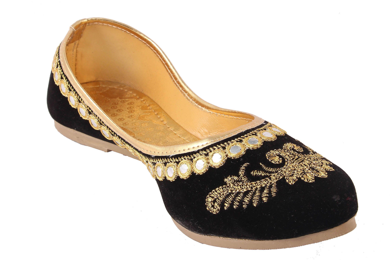 Femme Royale Black Ethnic Footwear