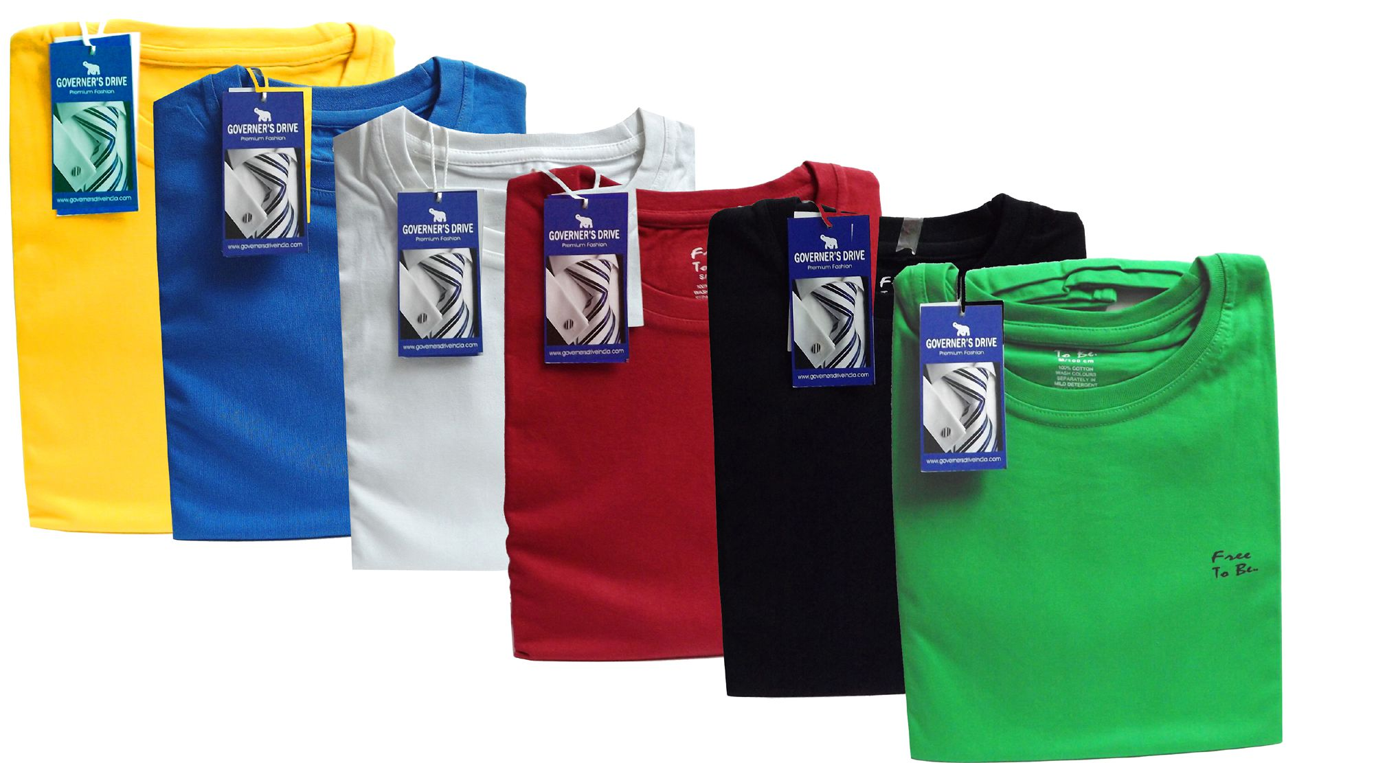 GOVERNER'S DRIVE Multi Round T-Shirt Pack of 6