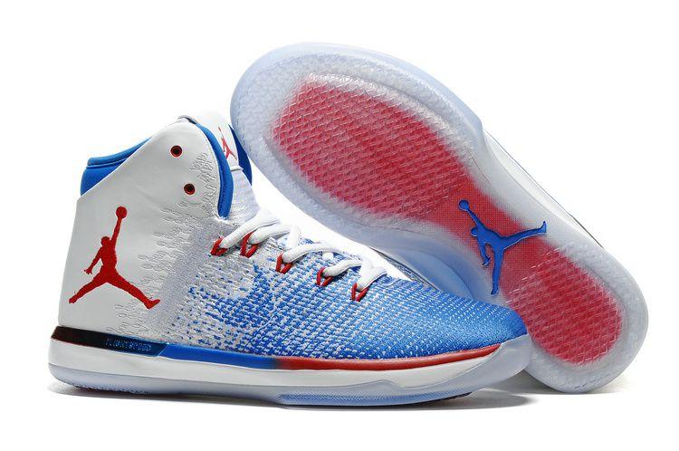 Nike Air Jordan XXXI 31 USA White Blue Basketball Shoes