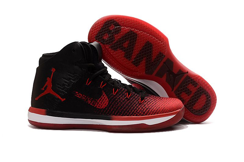 Nike Air Jordan XXXI 31 BANNED Red Black Basketball Shoes ...