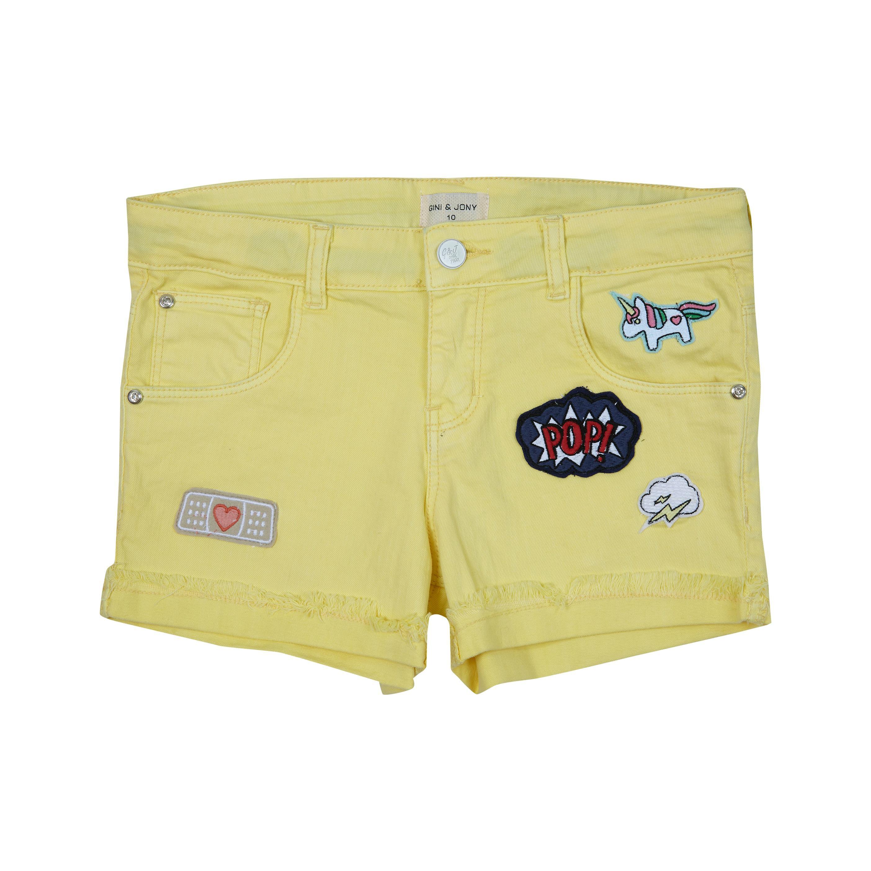 Gini & Jony Yellow  Shorts