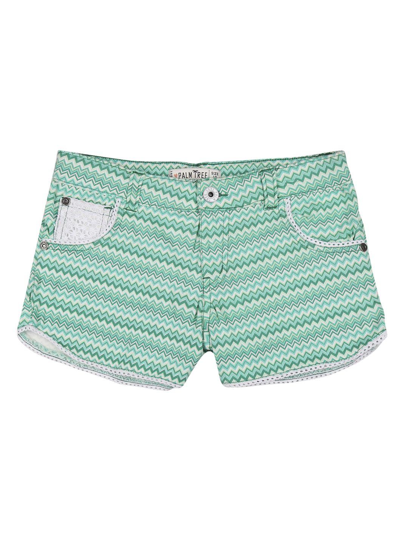 Palm Tree Light Green  Shorts