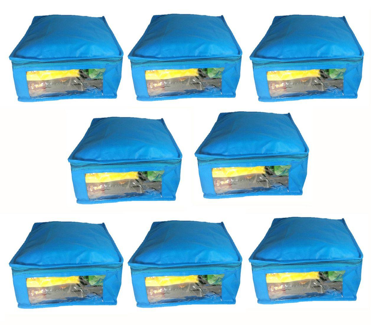 Sabita Blue Saree Covers - 8 Pcs