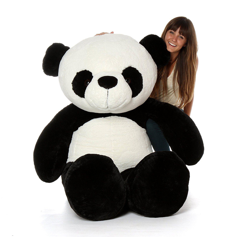 Avs 3 Feet Stuffed Spongy Huggable Cute Panda Teddy Bear Black