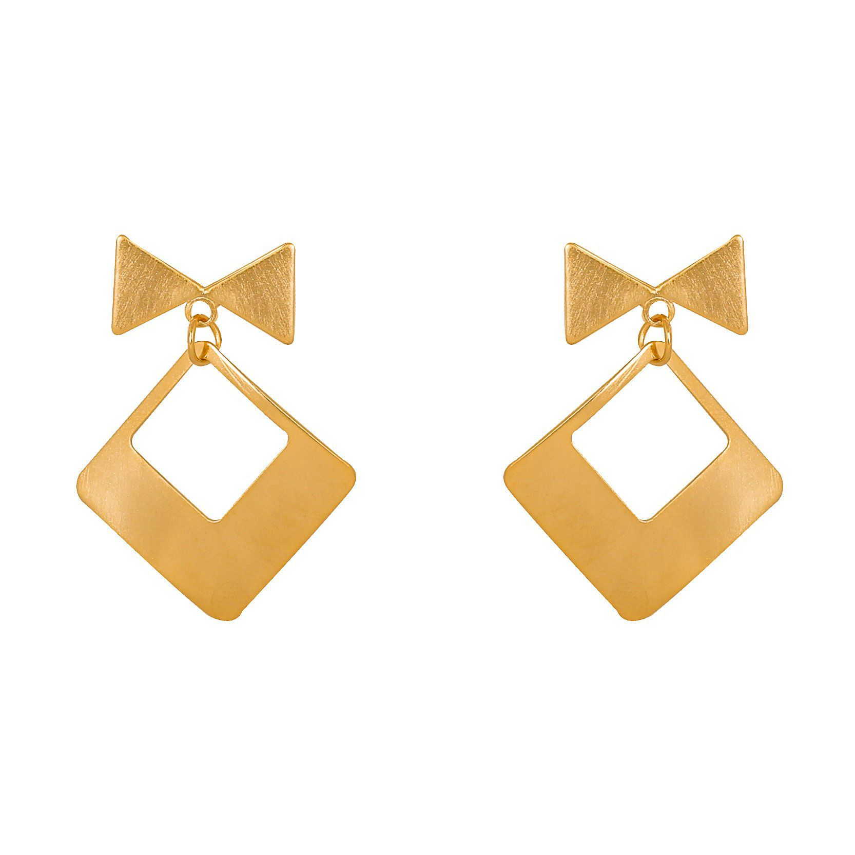 Bling Style Rhombus Bow Earrings