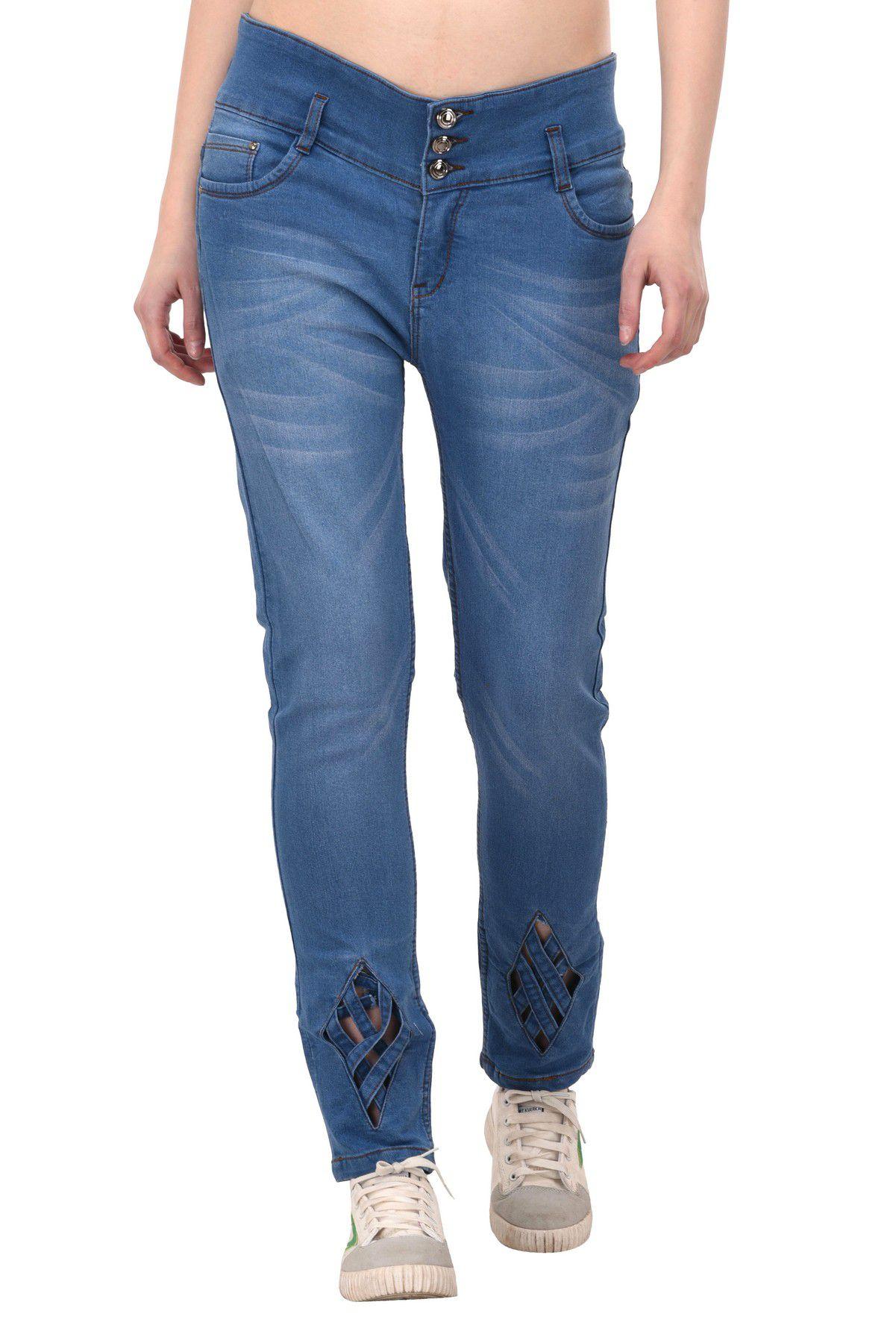 VOXATI Denim Lycra Jeans - Blue