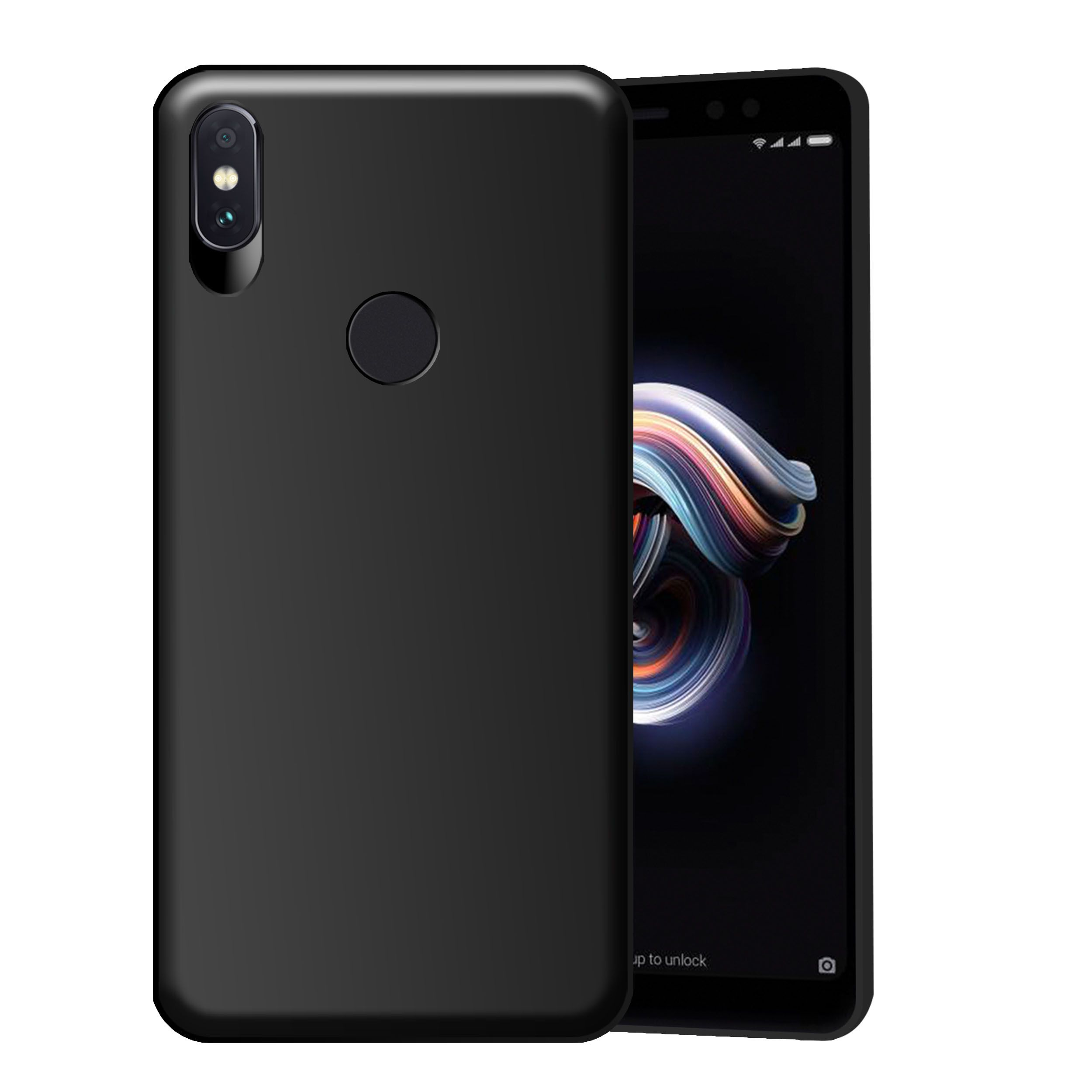 eaf2e76a3b Xiaomi Redmi Note 5 Pro Plain Cases Hupshy - Black - Plain Back Covers  Online at Low Prices | Snapdeal India