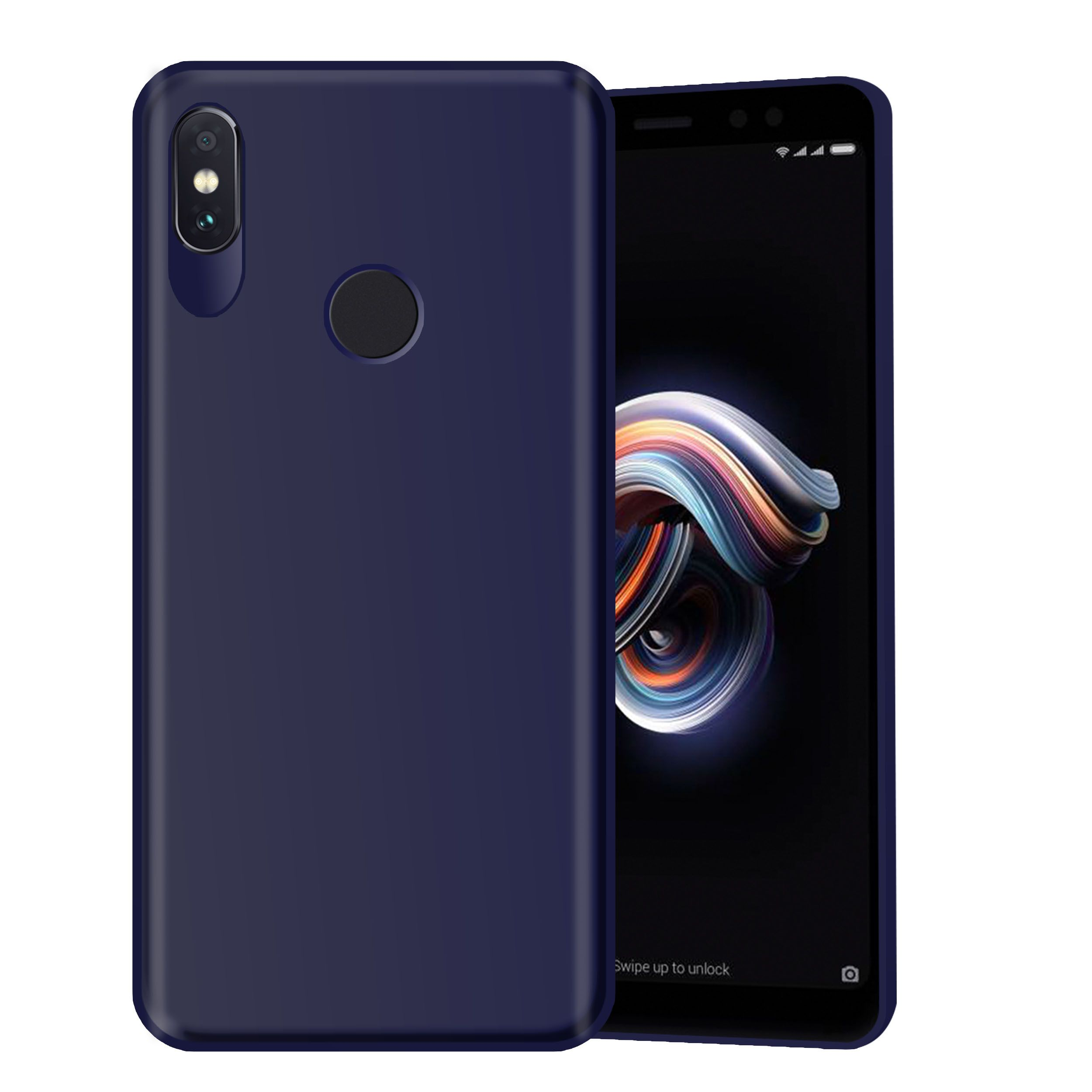 Xiaomi Redmi Note 5 Pro Plain Cases Hupshy Blue