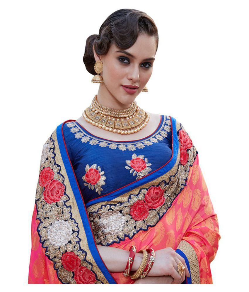 Sarees shop Pink Chiffon Saree