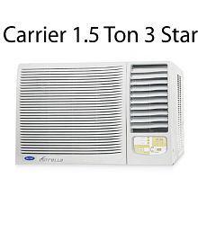 Carrier 1.5 Ton 3 Star Estrella 3S Window Air Conditioner White