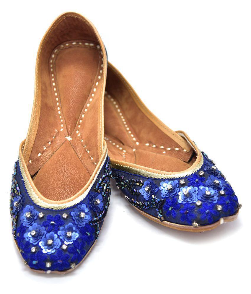 Just Differ Blue Ethnic Footwear