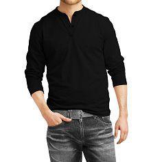 Veirdo Black Henley T-Shirt
