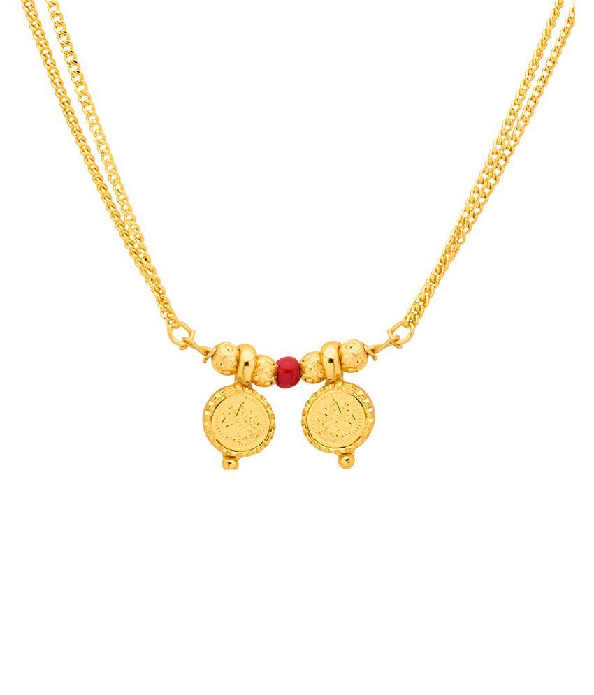 4638508811 Voylla Sanskriti Gold Plated Goddess Laxmi Two Wati Mangalsutra Necklace  With Free 1 Gm Silver Chain - Buy Voylla Sanskriti Gold Plated Goddess  Laxmi Two ...