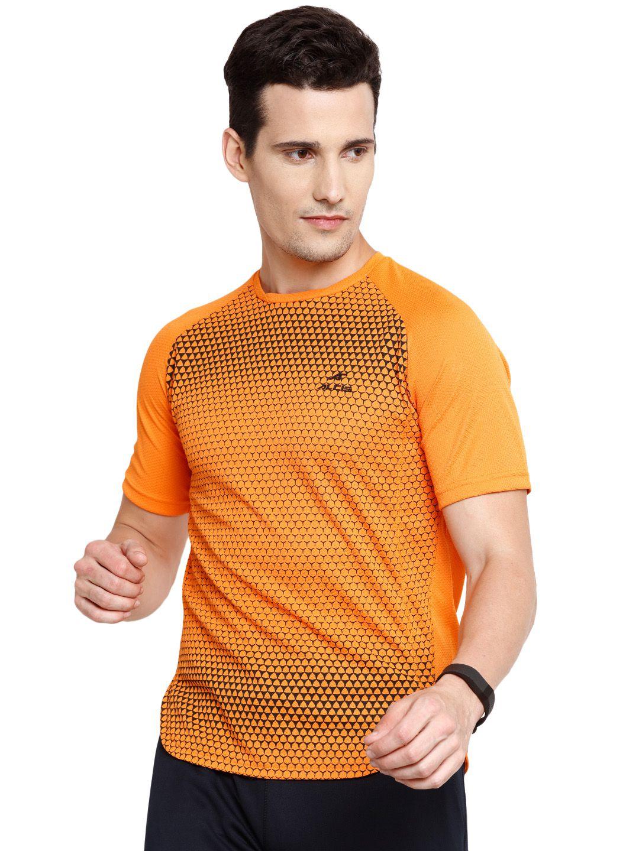 Alcis Mens Orange Printed Tshirt