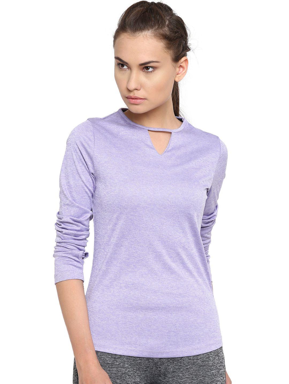 Alcis Womens Purple Solid Tshirt