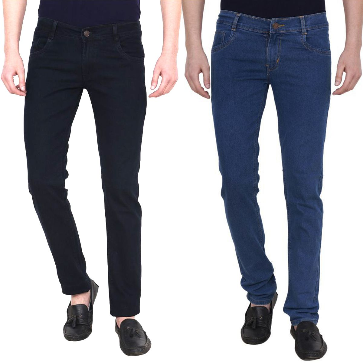 Masterly weft Multicolored Slim Jeans