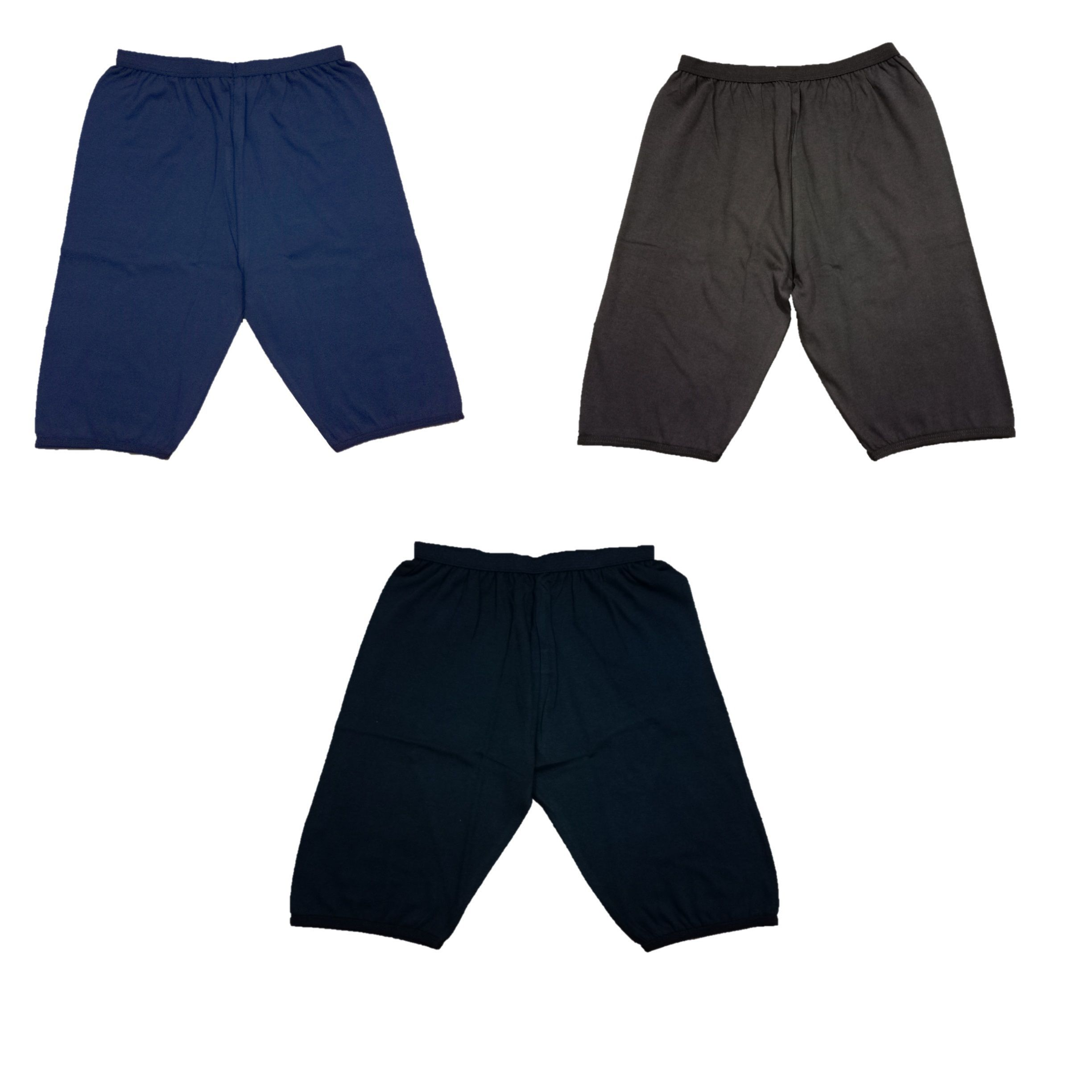 Yorker Multi Color Cycling Short For Girls(pack of 3)