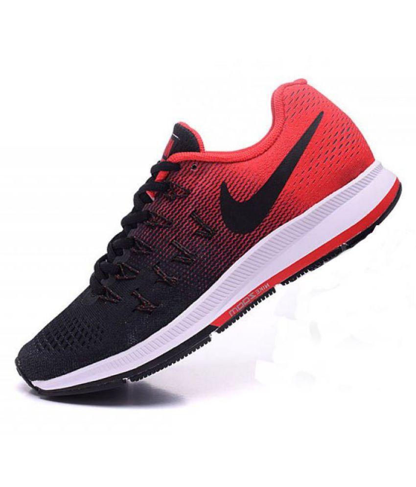 Nike 1 Pegasus 33 Black Red Red Running Shoes